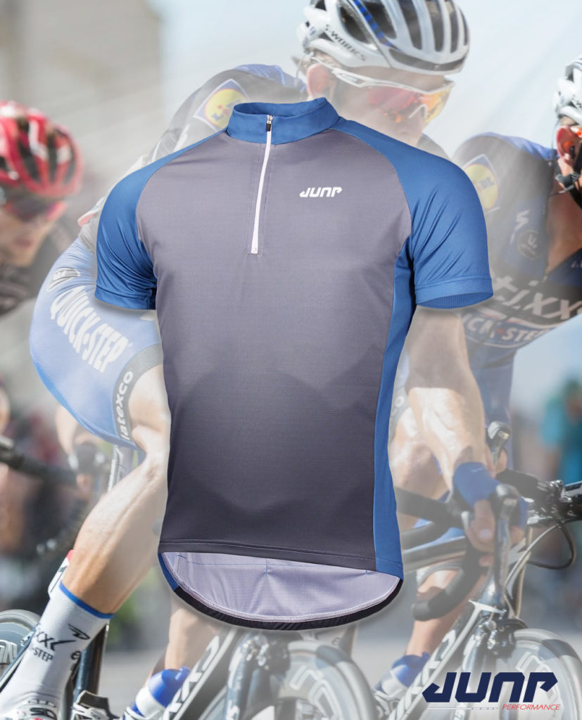 maillot cycle cyclisme personnalise demi zip jump performance industries
