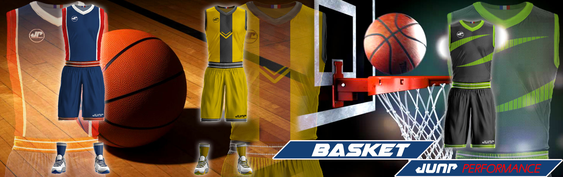 tenue maillot basket personnalise jump performance industries